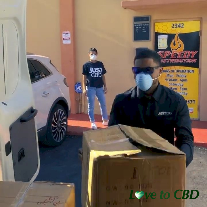 JustCBD Responds to COVID19 by Donating Face Masks to Homeless - Miami Rescue Mission, Florida