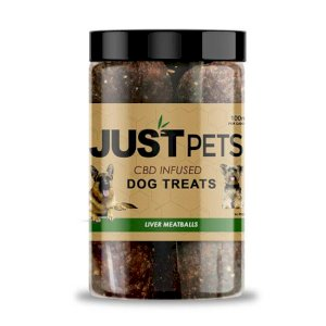 JustCBD Pets Dog Treats Liver Meatballs