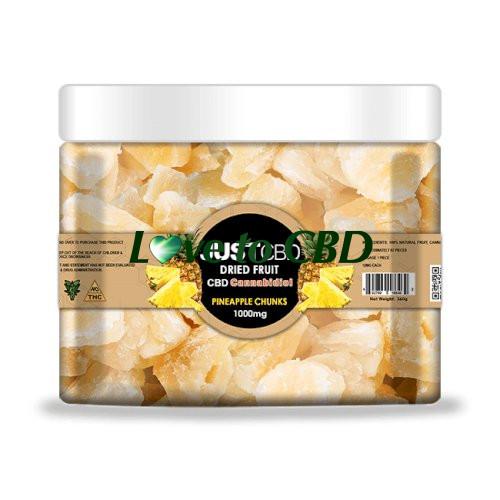 JustCBD Dried Fruit 1000mg Pineapple Chunks