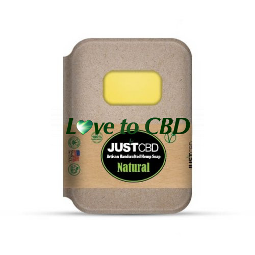 JustCBD Hemp Soap Natural