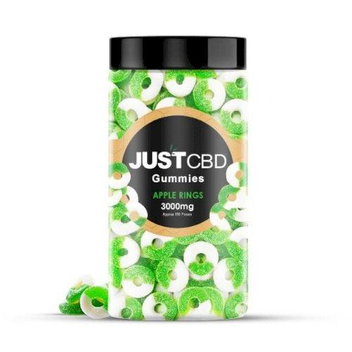 JustCBD Gummies Apple Rings 3000mg Jar