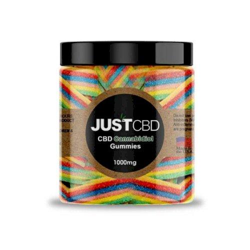 JustCBD Gummies Rainbow Ribbons 1000mg Jar
