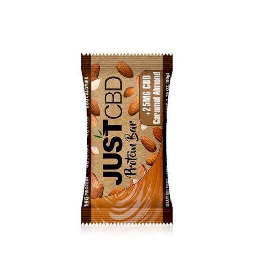 JustCBD Protein Bar Caramel Almond - Case