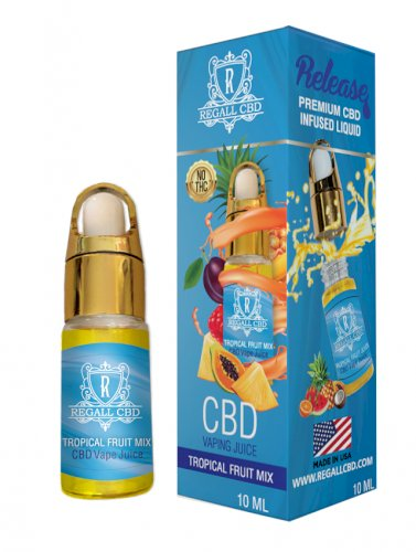 Regall CBD Vape Additive 10ml – Tropical Fruit Mix