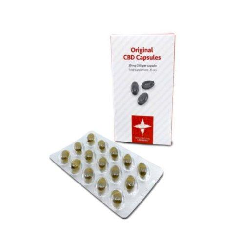 Swiss Original Cannabis CBD Capsules 20mg pr. capsule / 15 capsules